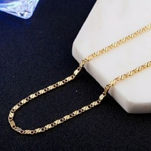 """18K Gold Over .925 Sterling Silver 22"""" inch Chain"""